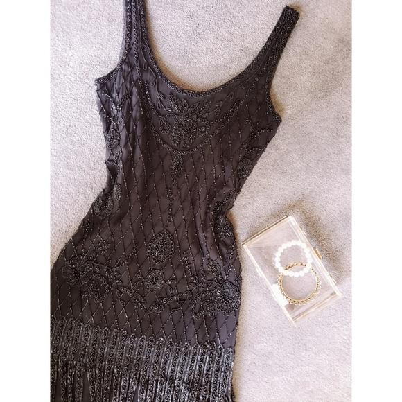 Vintage Dresses & Skirts - {Vtg} Sequined Flapper Dress